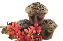 булочки рождества шоколада Стоковые Изображения