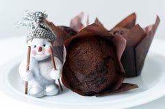Булочки шоколада для рождества Стоковые Фото