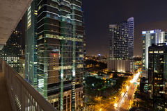 Бульвар Майами Brickell стоковые фото