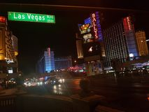 бульвар Las Vegas Стоковое фото RF