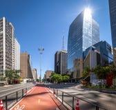 Бульвар Paulista - Сан-Паулу, Бразилия стоковое фото rf