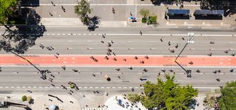 Бульвар Paulista, Сан-Паулу, Бразилия стоковые фотографии rf