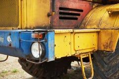 бульдозер затяжелителя тяжелой конструкции на районе конструкции Стоковое Изображение