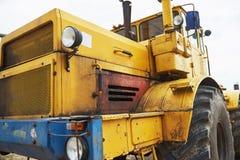 бульдозер затяжелителя тяжелой конструкции на районе конструкции Стоковое Изображение RF