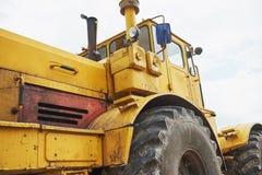 бульдозер затяжелителя тяжелой конструкции на районе конструкции Стоковая Фотография
