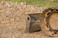 Бульдозер или непрерывный отслеживаемый трактор стоковые изображения