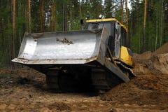 Бульдозер на строительной площадке стоковое изображение rf