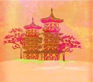 бумага азиатского ландшафта старая Стоковая Фотография