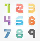 Бумага алфавита современная отрезала абстрактный дизайн стиля. Illustra вектора Стоковые Изображения RF