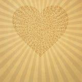 бумага бежевого сердца старая иллюстрация штока