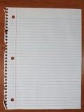 Бумага блокнота на столе Стоковое фото RF