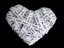 бумага влюбленности сердца Стоковое Изображение