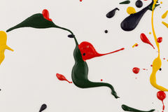бумага выплеска падений краски Стоковые Фото