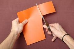Бумага вырезывания Стоковая Фотография