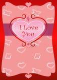 бумага влюбленности grunge карточки предпосылки Стоковые Изображения RF