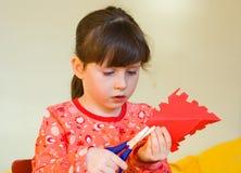 бумага девушки вырезывания Стоковое Изображение