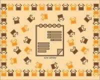 Бумага документа значка, бумажное заполнение documet и значок плана бесплатная иллюстрация