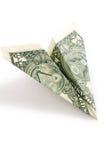 бумага доллара самолета Стоковое Изображение RF