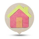 бумага дома рециркулирует Стоковые Изображения