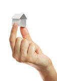 бумага дома руки малая Стоковые Изображения RF