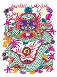 бумага дракона вырезывания иллюстрация штока