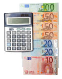 бумага евро чалькулятора Стоковые Изображения