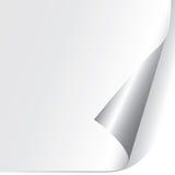 бумага завитая углом Стоковое фото RF