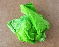 бумага задавленная шариком зеленая Стоковое Изображение RF