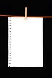 бумага зажима Стоковые Фотографии RF
