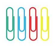 бумага зажимов покрашенная клерикальный clothespin Стоковые Изображения