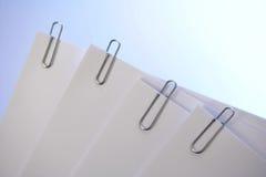 бумага зажимов Стоковая Фотография RF
