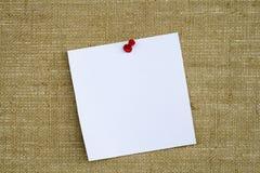 бумага извещении о примечания доски Стоковые Фотографии RF