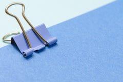 Бумага и зажим Стоковые Изображения RF