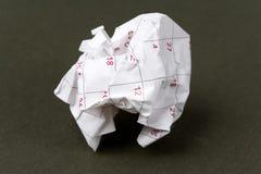 бумага календара шарика Стоковая Фотография RF