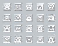 Бумага камина простая отрезала значки увольняет набор вектора бесплатная иллюстрация