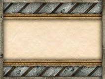 Бумага картинной рамки, деревянных и старых Стоковое Фото