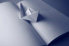 бумага книги шлюпки Стоковое Изображение