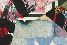 бумага коллажа покрашенная рукой Стоковое Изображение