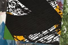 бумага коллажа покрашенная рукой Стоковые Изображения