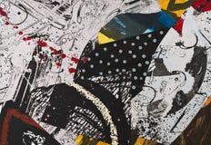 бумага коллажа покрашенная рукой Стоковые Изображения RF