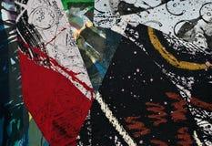бумага коллажа покрашенная рукой Стоковая Фотография