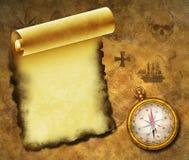 бумага компаса старая Стоковое Фото