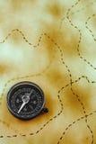 бумага компаса Стоковые Изображения RF