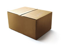 бумага корабля коробки Стоковое Изображение
