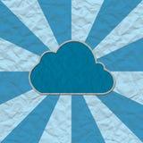 бумага корабля облака Стоковое Изображение