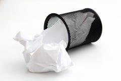 бумага корзины черная Стоковое Изображение RF