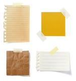 бумага коричневого примечания предпосылки старая Стоковые Фотографии RF