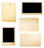 бумага коричневого примечания предпосылки старая Стоковое Фото