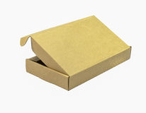 Бумага коробки на белой предпосылке стоковые фотографии rf