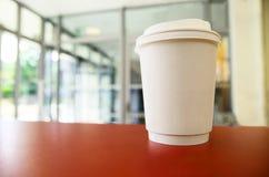 бумага кофейной чашки Чашка взятия отсутствующая Черная кофейная чашка без знака Стоковое Изображение